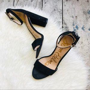 Sam Edelman Black suede heels Sz 6 women's